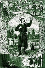 Saint Fiacre,patrono de los jardineros
