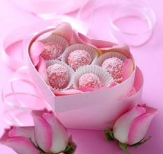 Roze Valentine Truffels