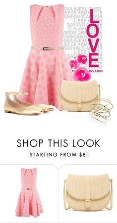 """""""Closet Daisy Belted Skater Dress, Pink"""" by ljbminime ❤ liked on Polyvore featuring L'Agence, Closet, Deux Lux, Gianvito Rossi, dresses, womensFashion, daydresses and closetdresses"""