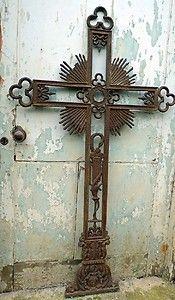 Antique Architectural Cast Iron Cross