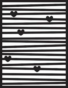Line Hearts Cut File/ free/ dn1