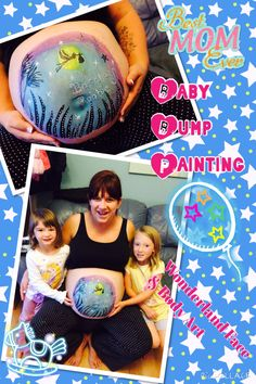 Baby bump painting
