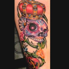 Sugar skull tattoo ❤