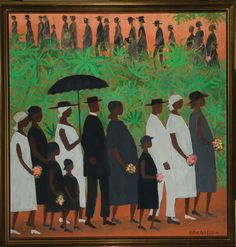 1954, Funeral Procession,  Ellis Wilson (American 1899-1977), Amistad Research Center at Tulane University, New Orleans, Louisiana, USA.