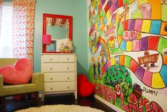 A nursery inspired by Candyland, doesn't get any sweeter than that! #nursery #pinparty