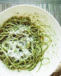 Almond Pesto Spaghetti Recipe