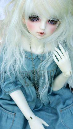 bjd ❤ pretty in blue Ball Jointed Dolls, Ooak Dolls, Blythe Dolls, Kawaii, Monster High, Enchanted Doll, Gothic Dolls, Anime Dolls, Creepy Dolls