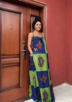 nigerian-wedding-ankara-latest-best-fashion-styles-spag-maxi-dress African Print Dresses, African Print Fashion, Africa Fashion, Ankara Fashion, African Prints, Ankara Maxi Dress, Nigerian Outfits, African Design, African Style