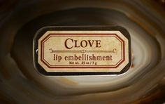Clove  natural lip balm tin with beeswax cocoa by ForStrangeWomen