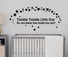 Bedroom decal or maybe painted on her ceiling with glow in the dark paint for the stars!