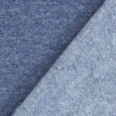 Sweatshirt gratté 26 - Coton - Polyester - gris bleu