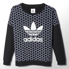 separation shoes 05083 8276e adidas - Star Crewneck Tee Adidas Outfit, Black Adidas, Long Sleeve Tops,  Crew