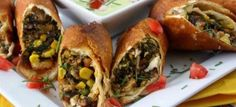 A wonderful smoky chicken flavor with black beans, corn and a bit of spinach with creamy melted jalapeno jack cheese wrapped in a fried flour tortilla.