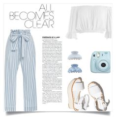 """""""lets make it clear  x"""" by kelseyleigh3 ❤ liked on Polyvore featuring Frame Denim, Sans Souci, Paloma Barceló, New Look and Fujifilm"""