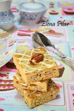 Mi Recetario por Elena Pilar: Blondies con pecanas y glaseado de Baileys