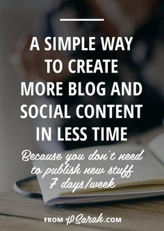No matter how well you plan your editorial calendar, there are always those days (ok, weeks) that fall through the cracks of business and life and leave your blog, your list, or your social media platforms looking like a ghost town. Click for a crazy simple blogging tip that will help fix this issue today!