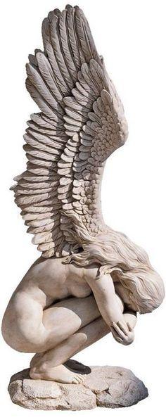 Garden Statue Sculpture Emotional Female Figure Angel Patio Outdoor Ornament  NEW In Garden U0026 Patio,