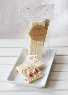 Erdbeer-Crispie-Schokolade
