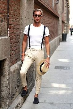 male model mens fashion menswear fashion photography mens style mens apparel #MensFashionSuspenders