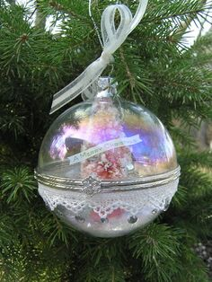 clear fillable christmas ornaments