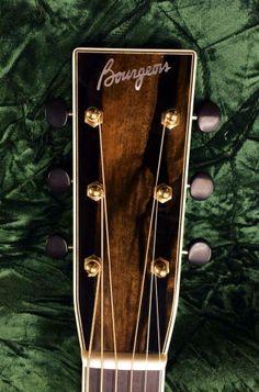 Bourgeois Guitars Macassar ebony headplate