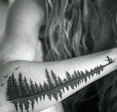 """StreetArtGlobe on Instagram: """"[Via @Artfido] This is not just a cool tattoo of two people fishing. It's also the image of the sound wave produced when a father says the word """"babydoll"""" to his daughter. A tattoo with serious meaning. Tattoo by @thebutcherbrand www.UpFade.com"""""""