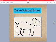 Digital bok basert på de tre Bukkene Bruse. (Book Creator) – Digital didaktikk i barnehage