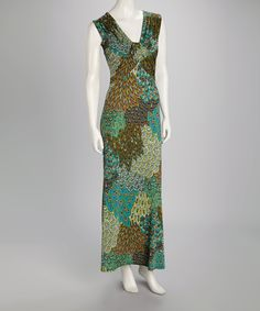 Take a look at this Green Feather Maxi Dress on zulily today!