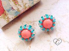 Orecchini DOME [IDEA REGALO] #dome #beads #beaded #handmade #domebeads #earrings #madeinitaly #cherihandmade