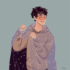 The Invisibility Cloak Harry James Potter, Harry Potter Anime, Harry Potter Fan Art, Harry Potter Marauders, Harry Potter Drawings, Harry Potter Pictures, Harry Potter Universal, Harry Potter Fandom, Harry Potter Characters