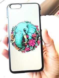 Elephant + Flowers iPhone Case