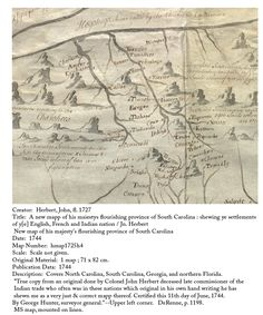 Historic Maps | cherokee, 1744 map in writing of Indian trader Colonel John Herbert
