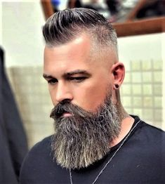 Long Beard Styles, Beard Styles For Men, Hair And Beard Styles, Mens Hairstyles With Beard, Cool Hairstyles For Men, Haircuts For Men, Beard Fade, Beard Look, Men Beard