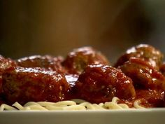 Spicy Turkey Meatballs and Spaghetti Recipe : Ina Garten : Recipes : Food Network | LP: BEST meatballs I've ever made. Ever. Make a full batch and freeze for easy dinners. Just stock up on good jarred marinara (or make your own).