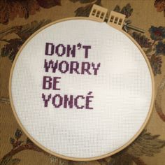 Beyoncé counted cross stitch (ABC)