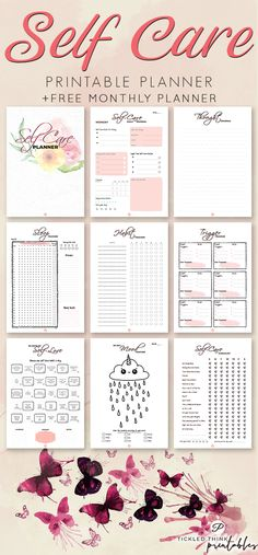 When you are constantly feeling stressed out, overwhelmed or when you are coping with mental illnesses, such as depression and anxiety, practicing self-care is hugely beneficial. With the help of this self-care printable planner, you can now start taking care of yourself every day, increase self-love and self-worth, improve your mental health and boost your mood, help you maintain a balanced relationship with yourself so you can find lasting peace and happiness. #mentalhealth…