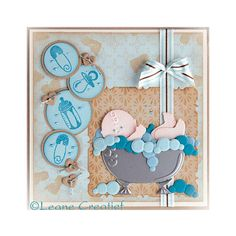 Leane Creatief Cutting Dies - Baby Stroller, Cradle, Bath 450539 | Buddly Crafts