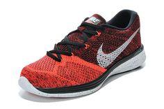 Cyber Monday Nike New Flyknit Lunar 3 Bright Crimson Black/Bright Crimson/University Red/White Plush Cushioning Ultra Lightweight Mens Running Shoes 2015 Spring Summer Sneakers Deals