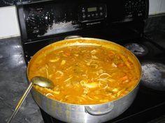 "How to make soup joumou ( or squash soup) the Haitian way/ La recette du ""soup joumou"" - Haiti Infos Carribean Food, Caribbean Recipes, Cheap Clean Eating, Clean Eating Snacks, Healthy Eating, Gourmet Recipes, Soup Recipes, Vegan Recipes, Beef Recipes"