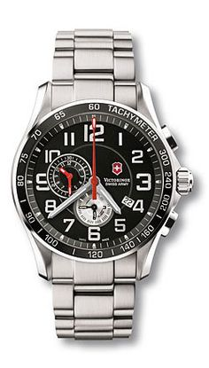 Chrono Classic 241280 - XLS Alarm - Extra Large Black Dial - Stainless Steel Bracelet