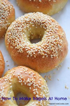 Learn how to make bagels at home in a super easy & fun way and trust me you won't go back to those store bought bagels, ever!