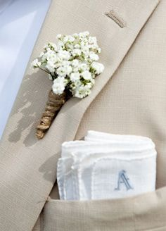 Wedding Flowers, Bouquet, Babys Breath, White Flower, Flower Arrangements || Colin Cowie Weddings