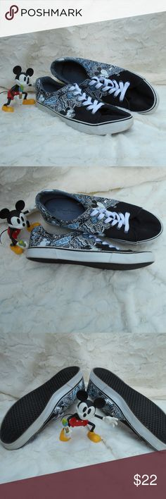 Sale Disney Canvas Mickey Mouse Shoes Men's Disney Parks Mickey Mouse canvas shoes.  Very little wear, like new condition.  Size 12.  These shoes are just so cute.  Great for that next visit to Disney or that Disney lover in your family (my husband is one those). Disney Parks Shoes Sneakers