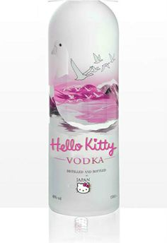"Hello Kitty Vodka is just a project of Anna Utopia Giordano: PopBottles. She made several fake bottles of liquor, with a kids-theme. No, she's not nuts. This is a special art project to ""raise social awareness on topics such as alcohol abuse by teens JUMI Pop Bottles, Liquor Bottles, Baby Bottles, Vodka Bottle, Bottle Top, Alcohol Bottles, Chat Hello Kitty, Here Kitty Kitty, Hello Kitty Clothes"