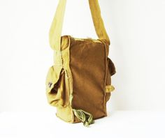 Military bag Soviet Vintage USSR European Army by MerilinsRetro, $16.00
