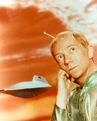 My Favorite Martian aired from sept 1963-66. Tim O'Hara (Bill Bixby), reporter for the LA Sun, stumbles upon a crashed spaceship and finds a Martian (Ray Walston), whom he befriends and passes off as his uncle Martin. Martin's antennae would occasionally pop out of his head, threatening to give the game away. Avoiding the busybody snooping neighbour becomes central to the show.