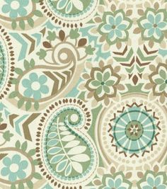 Waverly Upholstery Fabric-Paisley Prism Latte