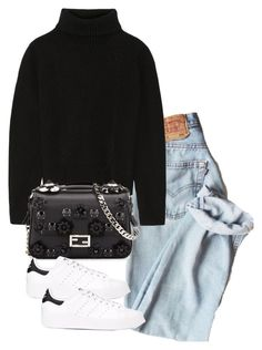 """Untitled #5514"" by theeuropeancloset on Polyvore featuring Proenza Schouler, Fendi and adidas"