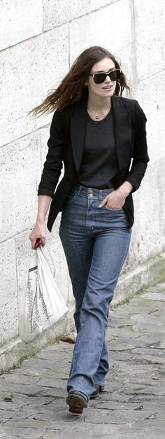 Keira Knightley spotted in Saint-Germain-des-Pres, Paris France.