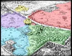 Dit is de plaats waar de eerste serie van Warrior Cats zich afspeelt. Alle 4 clans hebben hun eigen terrein in hetzelfde bos; RivierClan is blauw, WindClan is paars, SchaduwClan is rood en DonderClan is groen. De moedermuil is de plek waar alle medicijnkatten samenkomen en Vierboom is de plek waar alle 4 de clans samenkomen.